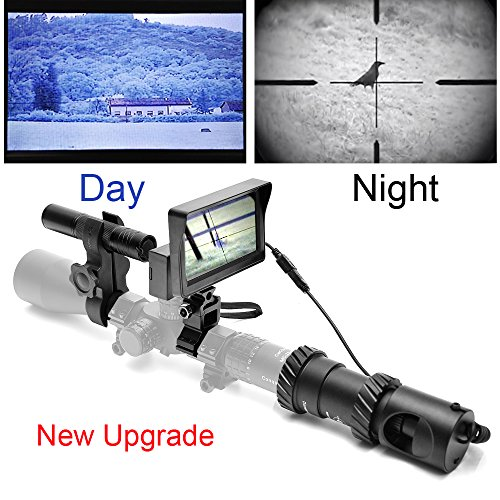 bestsight DIY Rifle Night Vision Scope with CCD and Flashlight for Riflescope Outdoor Night Hunting Optics(UPGRADE)