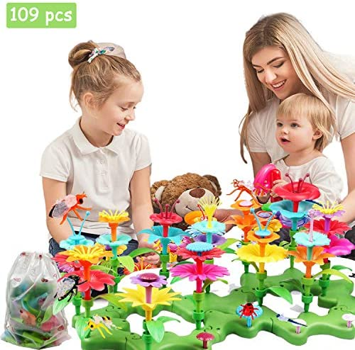 barchrons Flower Garden Building Toys Set Flower Building Toy Educational Creative Playset for Age 34567 Year Old Gifts