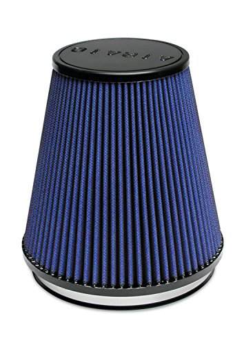 Airaid 703-495 Universal Clamp-On Air Filter: Round Tapered; 6 in (152 mm) Flange ID; 7 in (178 mm) Height; 7 in (178 mm) Base; 4.375 in (111 mm) Top