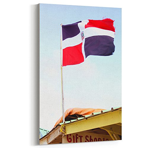 Westlake Art - Flag Cana - 12x18 Canvas Print Wall Art - Canvas Stretched Gallery Wrap Modern Picture Photography Artwork - Ready to Hang 12x18 Inch (Great Republic Canvas Cap)