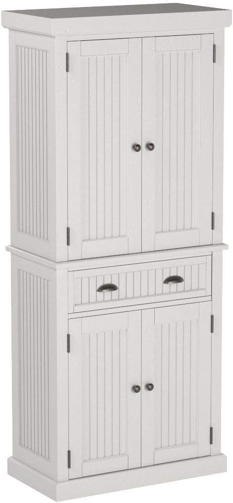 Home Styles Nantucket Pantry - White Distressed Finish: Furniture & Decor