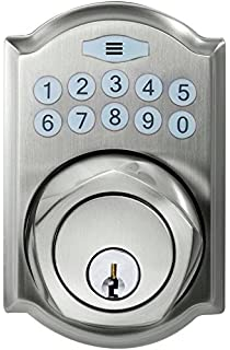 Defiant Spin To Lock Electronic Deadbolt Bolt Nickel