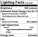 ChiChinLighting® 9 Watt LED Bulbs, Replace 60 Watt Incandescent Bulb, E26 Medium Screw, Energy Efficient Lights, Warm White 900 Lumens