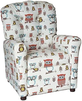 Brazil Furniture Children s Button Back Recliner, Hooty