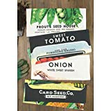 Vegetable Seed Flour Sack Kitchen Dish Towels, set of 4