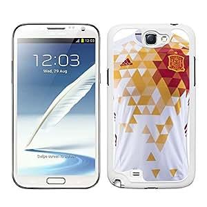 Funda carcasa para Samsung Galaxy Note 2 diseño camiseta España Eurocopa 2016 borde blanco