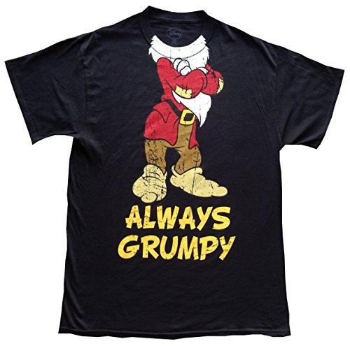 (DISNEY Mens T-Shirt, Always Grumpy Vintage Look, L,)