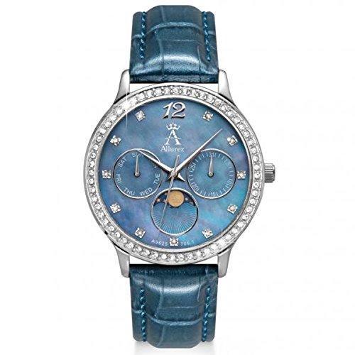 Allurez Women's Chronograph Blue Mother of Pearl Dial Watch (Pearl Mother Chronograph Of Blue)