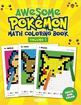 Awesome Pokemon Math Coloring Book: Amazon.co.uk: Gameplay ...