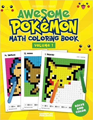 Awesome Pokemon Math Coloring Book: Gameplay Publishing ...
