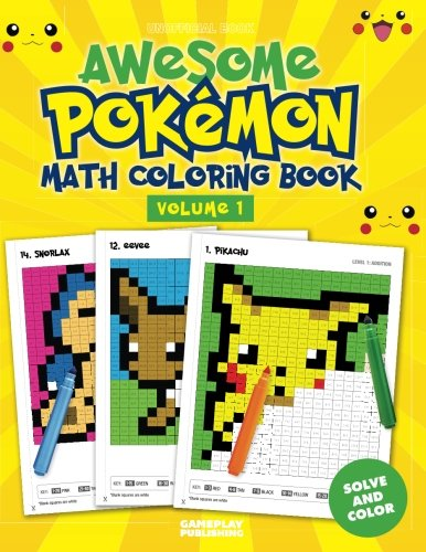 Awesome Pokemon Math Coloring ()