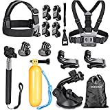 Neewer 16-in-1 Sport Accessory Kit for GoPro Hero4 Session Hero 4/3+/3/2/1, Sj4000/5000/6000/7000 Sony Action Camera Hdr-as15 As20 As30v AS50 As100v As200v Hdr-az1 Mini Sony Fdr-x1000v