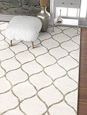 Well Woven Plaza Geometric Ivory Modern Lines Angles Tiles Shapes Area Rug Carpet