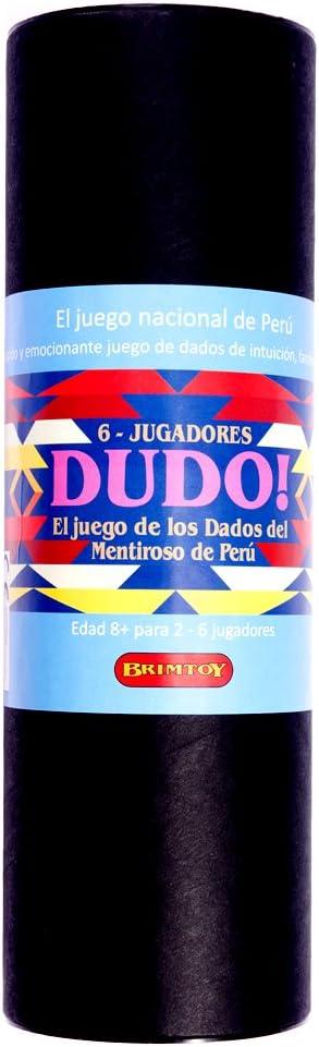 Brimtoy Dudo. El Juego de los Dados del Mentiroso de Perú - 6 Jugadores: Amazon.es: Juguetes y juegos
