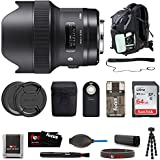 Sigma 14mm f/1.8 DG HSM Art Lens for Canon EF (450954) Deluxe travel Kit