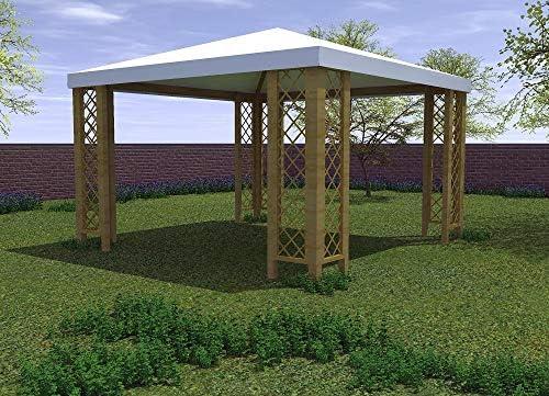 Salone Negozio Online Cenador de 3 x 3 m con Rejillas, de Madera de Pino Macizo, Impermeable: Amazon.es: Jardín