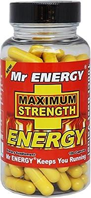 Mr. ENERGY Maximum Strength ENERGY Pills 100 Capsules - Best Energy Pills for Men and Women That Work