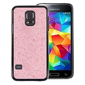 A-type Arte & diseño plástico duro Fundas Cover Cubre Hard Case Cover para Samsung Galaxy S5 Mini (Not S5), SM-G800 (Vintage Pink Wallpaper Retro Rustic)