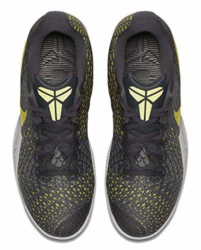 Nike Kobe Mamba Instinct Hommes Chaussures De Basket Gris / Citron Vert