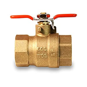 Everflow Supplies 615T034-NL Lead Free Full Port IPS Threaded Ball Valve with Tee Handle, 3/4-Inch