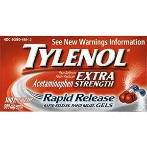 Amazon Com Tylenol Extra Strength Rapid Release Gelcaps