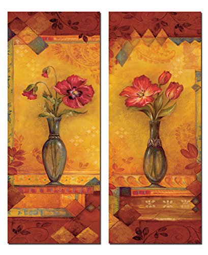 Bud Vase I Beautiful, Vibrant Red Flowers in a Vase; Two 8x20 Poster Prints