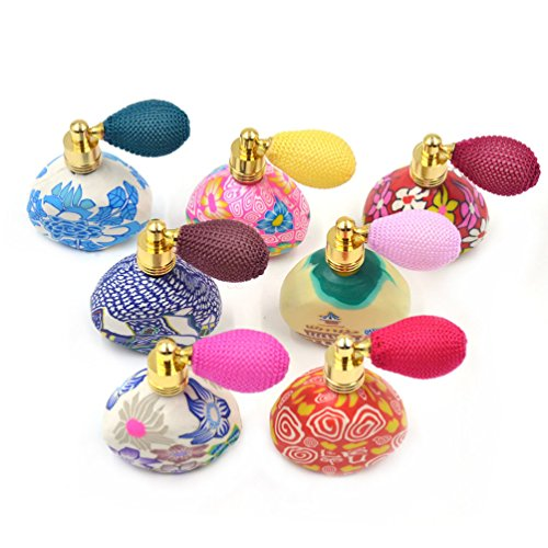 Lychee Vintage Gasbag Spray Perfume Bottle Atomizer Essential Oil Refillable Random Floral