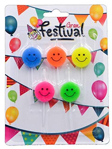 Gran Festival- vela de cumpleaños, Color surtido (1): Amazon ...