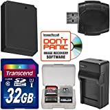 LP-E12 Battery & Charger + 32GB SD Card Essential Bundle for Canon Rebel SL1, EOS M, M50, M100 Digital Camera