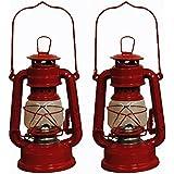 Red Hurricane Kerosene Oil Lantern Emergency Hanging Light / Lamp - 8 Inches