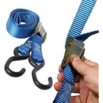 Erickson 34409 Pro Series Yellow 2-Inch x 8-Inch Cam Lock Buckle Tie-Down Strap
