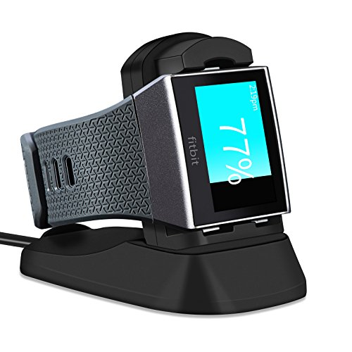 Usb Cradle Charger (Fitbit Ionic Charger, LEFON Charger Charging Stand Accessories Charging Dock Station Cradle Holder with 1m USB Cable for Fitbit Ionic Smart Watch (Black))
