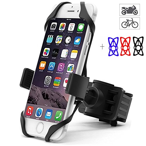 Bike Phone Mount for Motorcycle, ANKCE Universal Bicycle Phone Holder for Motorcycle Handlebars,Adjustable, Fits iPhone X, 8/8 Plus, 7/7 Plus/6s/6s Plus,Galaxy S7, S6, S5, Holds Phone Up To 3.5