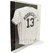 BCW Deluxe Acrylic Large Jersey Display Holder - BLACK BACK - Baseball, Football, or Hockey Jersey - Sports Memoriablia Display Case - Sportscards Collecting Supplies by BCW