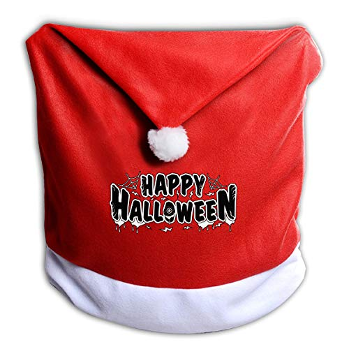 FUNMAX Happy Halloween Spider Web Non-Woven Xmas Christmas Themed Dinner Chair Cap Hat Covers Set Ornaments Backers Protector for Seat Slipcovers Wraps Coverings Decorations]()