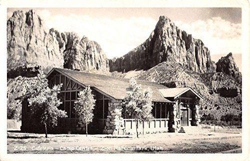 Zion National Park Utah Campe Center Cafeteria Real Photo Postcard K67822