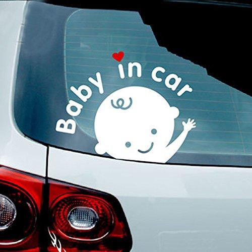 Alamor Baby In Car Waving Baby On Board Letrero De Seguridad Cute Car Decal Vinyl Sticker