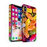 STUFF4 Matte Hard Back Snap-On Phone Case for Apple iPhone X/10 / Jelly Babies Design / Confectionery Collection