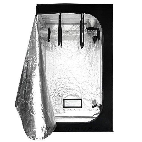 "51w1534nY9L - NEW 48""Lx48""Wx78""H 100% Reflective Mylar Hydroponic Indoor Grow Tent Window Room"