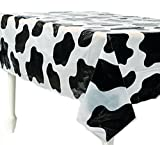 Toys : Fun Express Lightweight Cow Print Tablecloths (Set of 6), 54 x 72""