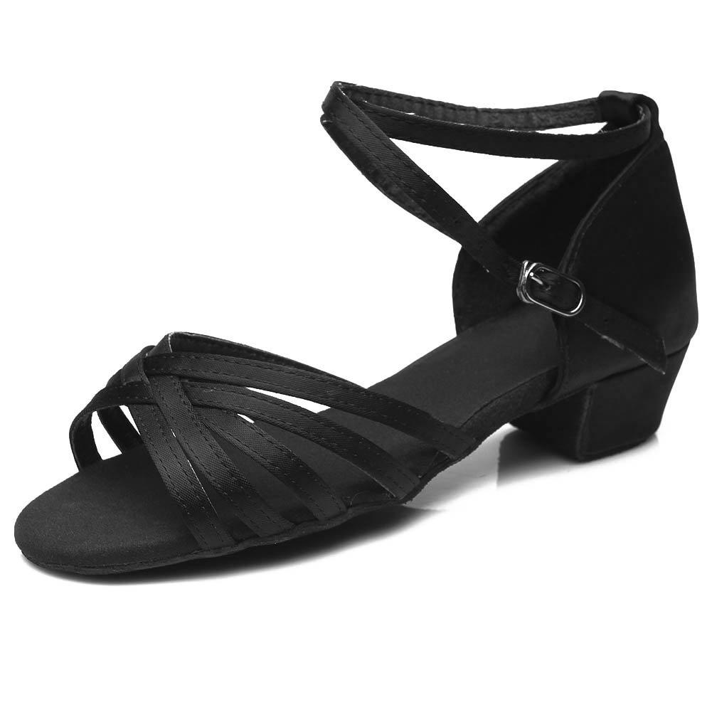 SWDZM Donna& Bambina Scarpe da Ballo/Raso/Modern Standard Salsa Latin Dance IT202