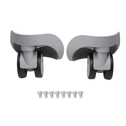 BQLZR - Ruedas giratorias de repuesto para maleta de plástico (9,1 x 10