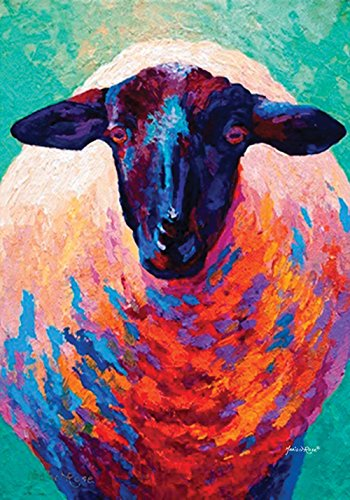 Toland Home Garden  Here's Looking at Ewe 12.5 x 18-Inch Decorative USA-Produced Garden Flag - Marion Painting