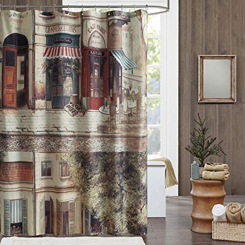 DS BATH Cafe de Paris Shower Curtain,Waterproof