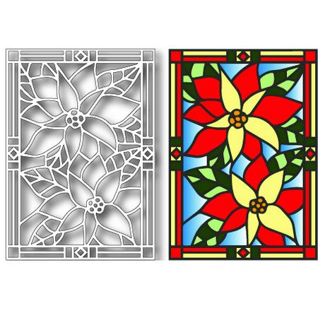Tutti Designs POINSETTIA Stained Glass Cutting Die TUTTI-406