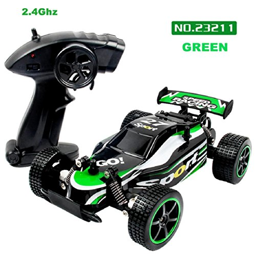 Lookatool Children Remote Control Stunt RC Car Toys, 1:20 2.4GHZ 2WD Radio Remote Control Off Road RC RTR Racing Car Truck GN