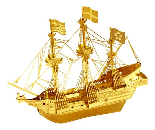Fascinations Metal Earth 3D Laser Cut Model Golden Hind Ship Boat - GOLDEN VERSION