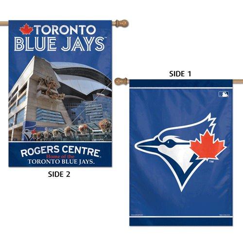 Wincraft MLB Toronto Blue Jays 2 Sided Vertical Flag, 28 x 40