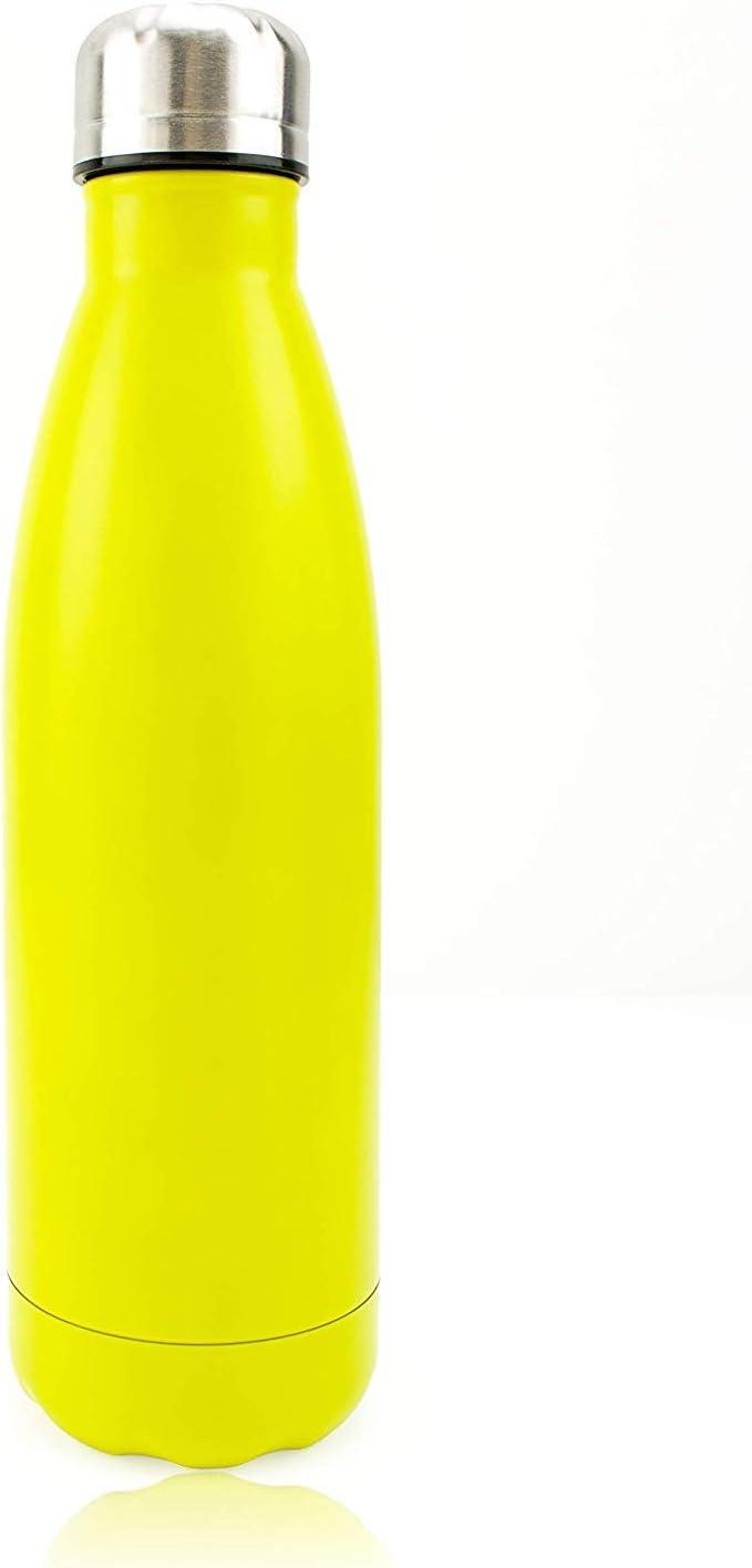 t/érmica Mantiene Caliente y fr/ía DRAGON SLAY Tide Botella de Agua de Acero Inoxidable Botella de Agua Reutilizable de Metal con Aislamiento al vac/ío de 500 ml