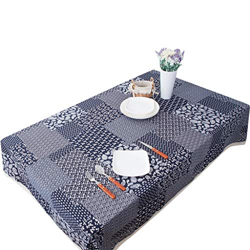 - WHY Cloth Art Ramie Cotton Table Cloth Ethnic Style Rectangular Tea Room Restaurant Household Tea Table Cloth (Size : 140140cm)